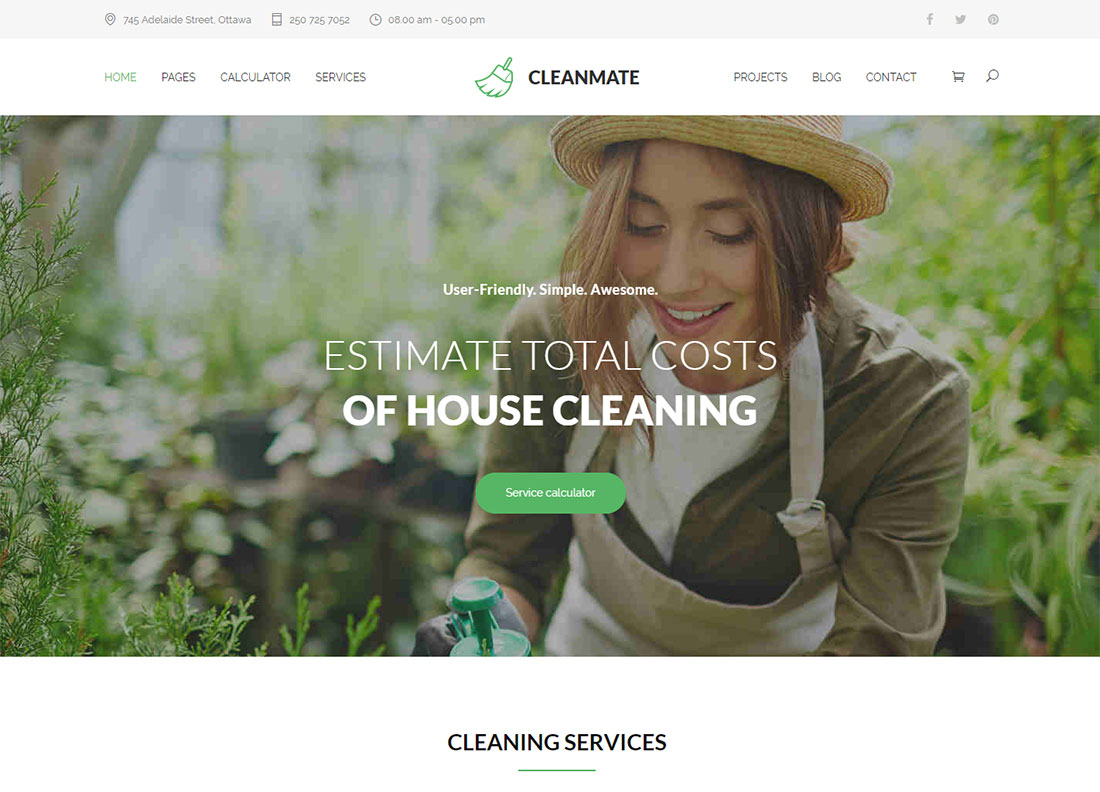 CleanMate Pest Control WordPress Theme