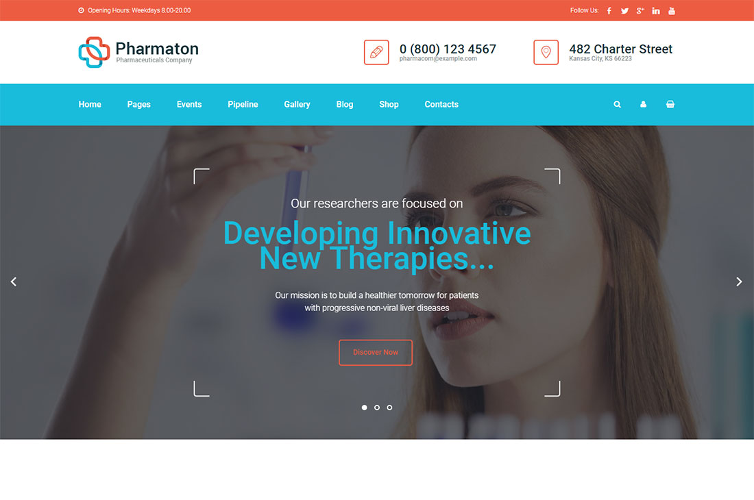 pharmaton science wordpress theme