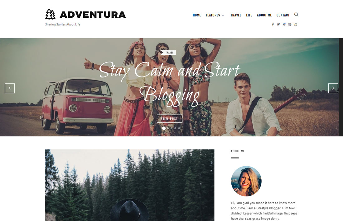 theblogger travel magazine theme