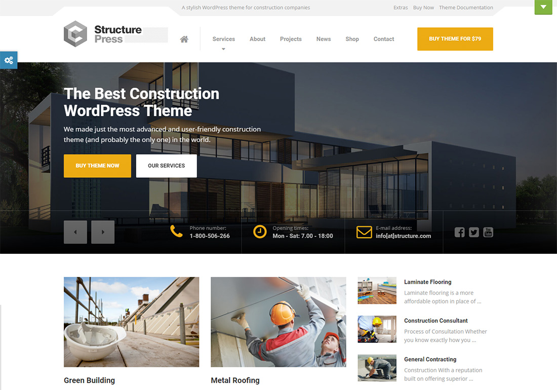 StructurePress WordPress Themes for Painters