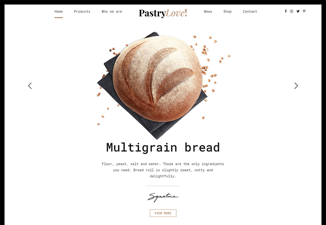 Pastry Love - WordPress