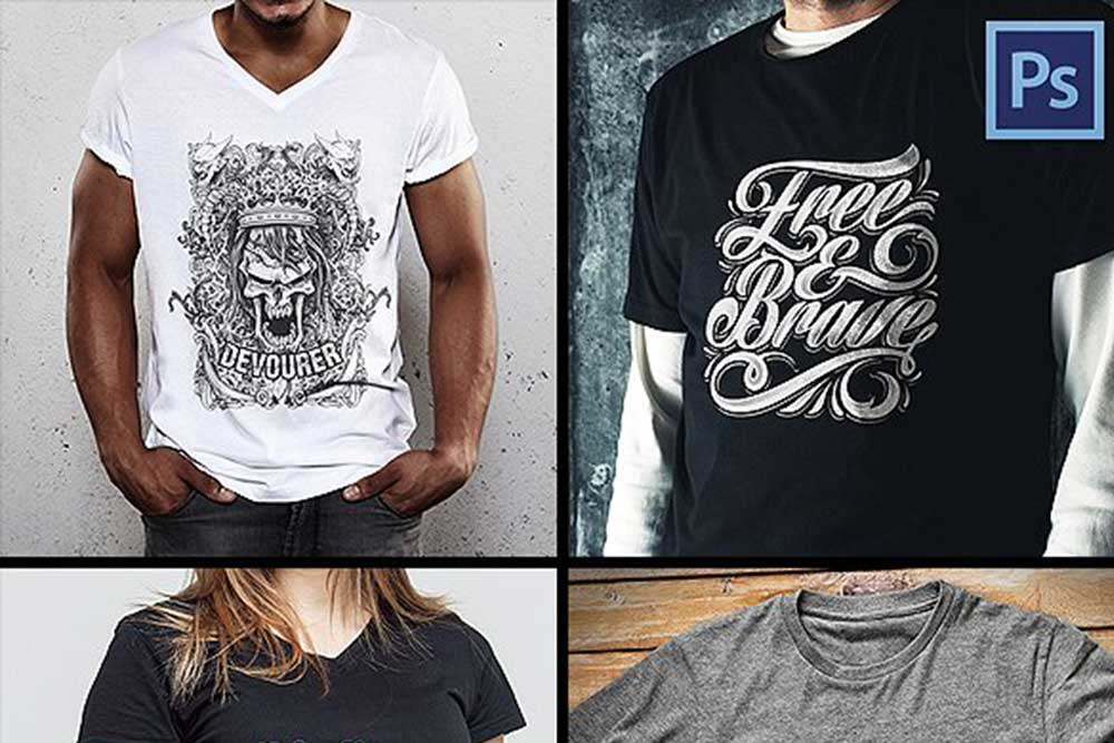 16846b2ad79a3 30 Awesome Black T-shirt Mockups For Your Apparel Business - Colorlib