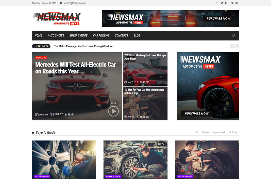 newsmax cars magazine wordpress themes