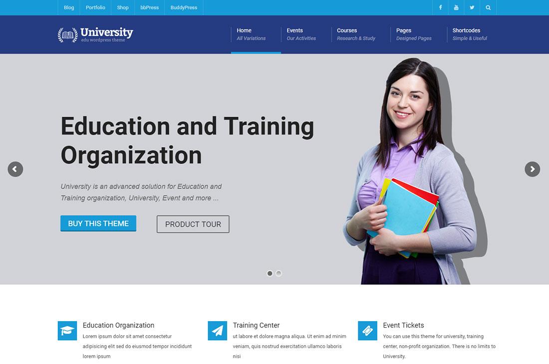 university elementary school WordPress theme