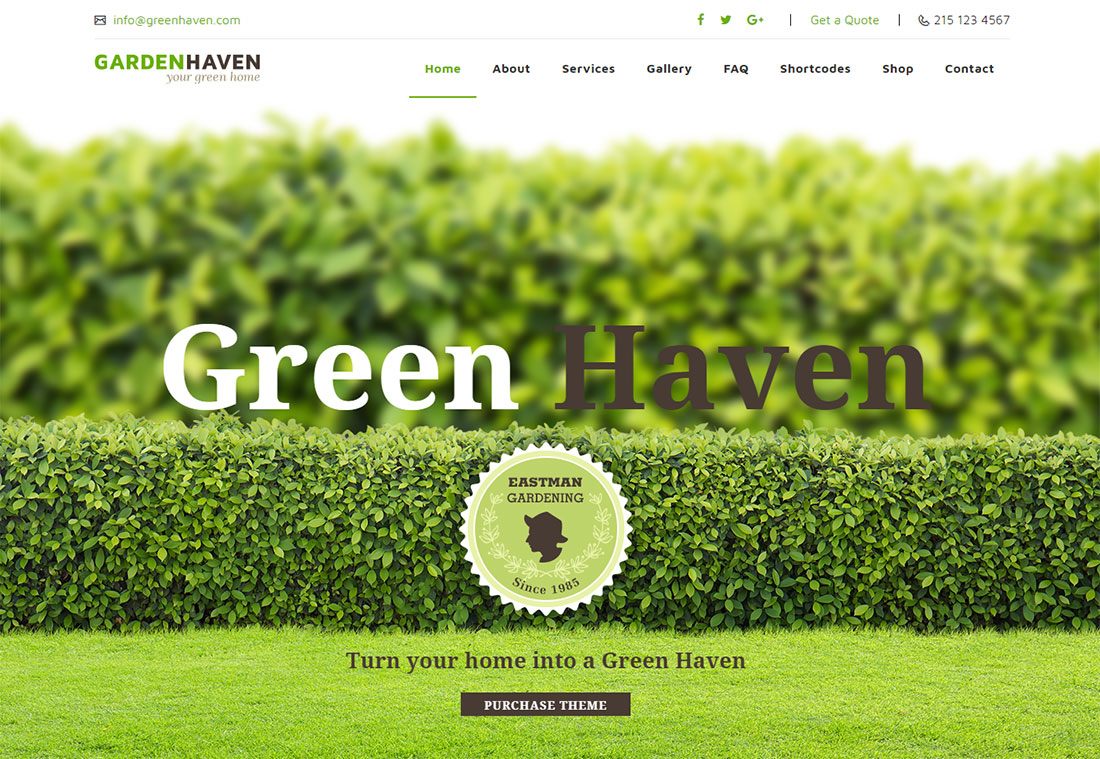 Gardening Landscaping Website Template