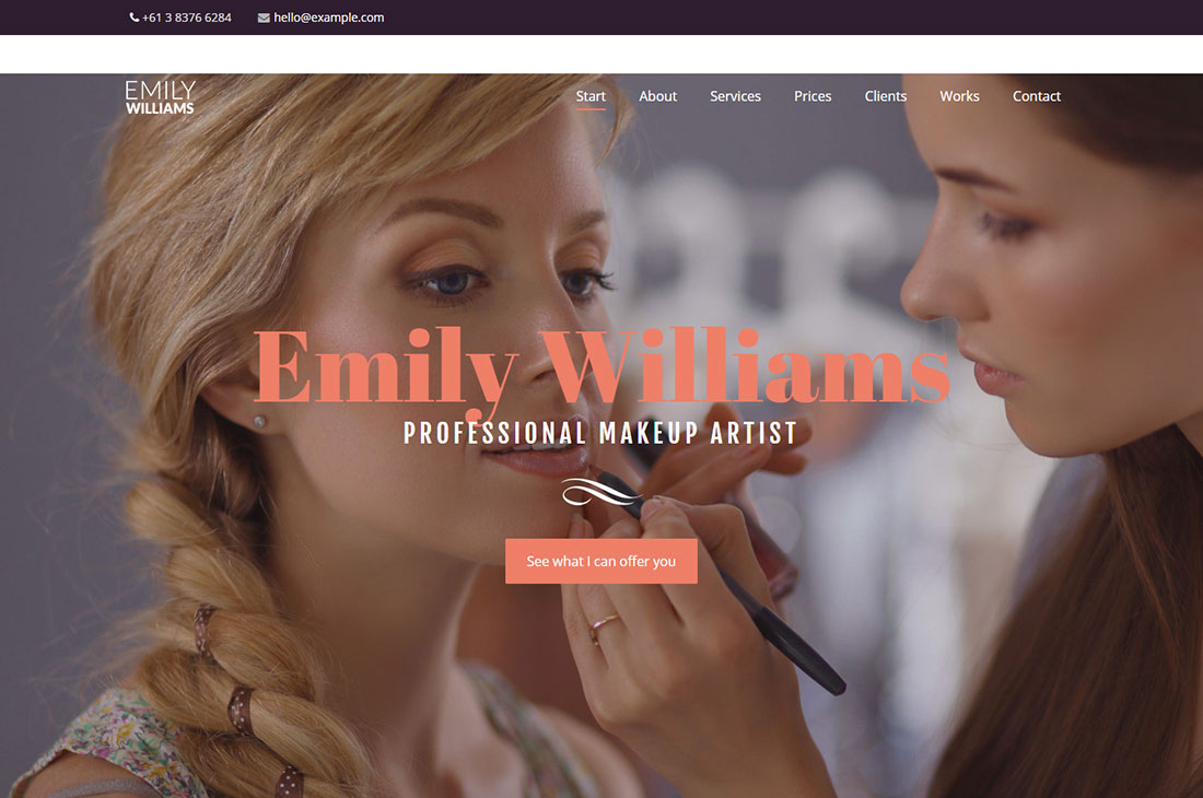 you makeup artist wordpress theme