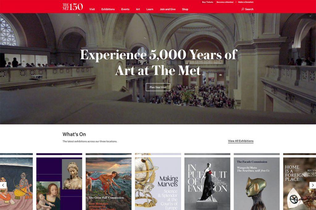 Met Museum website design