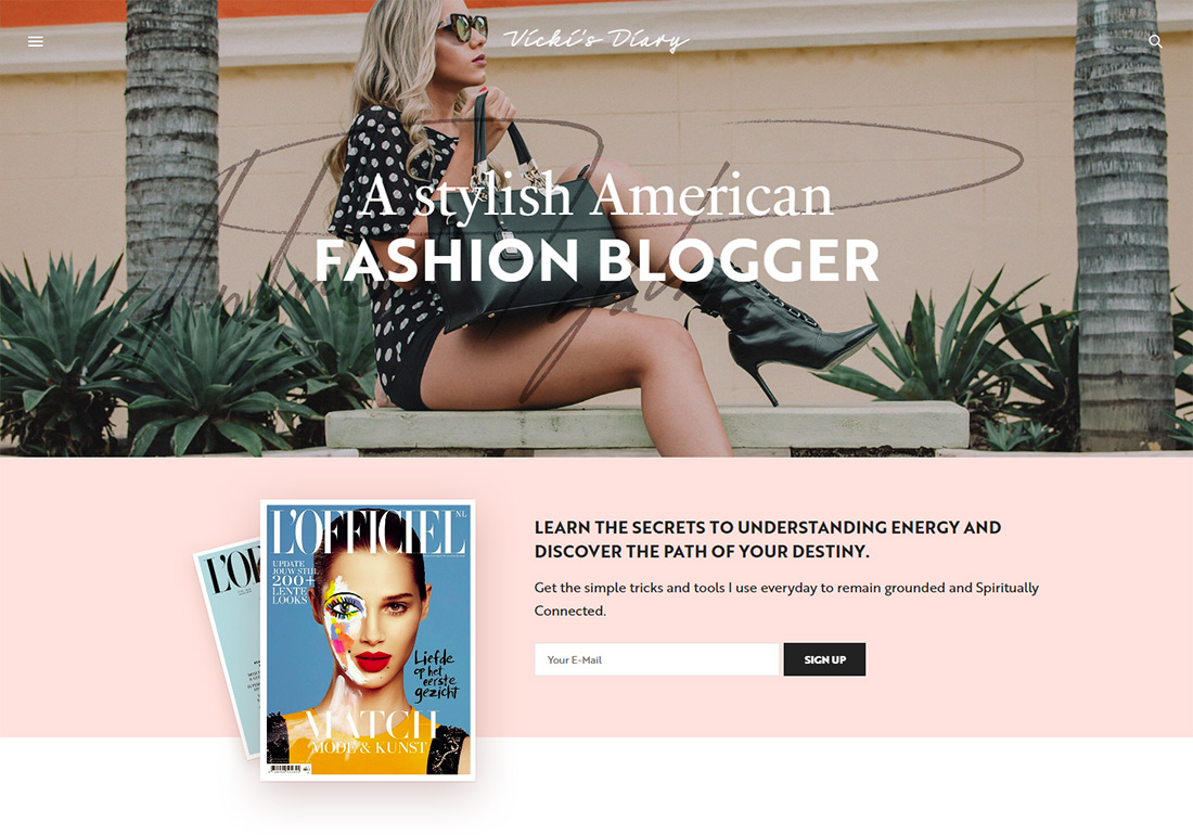 The Voux Personal Branding WordPress Theme