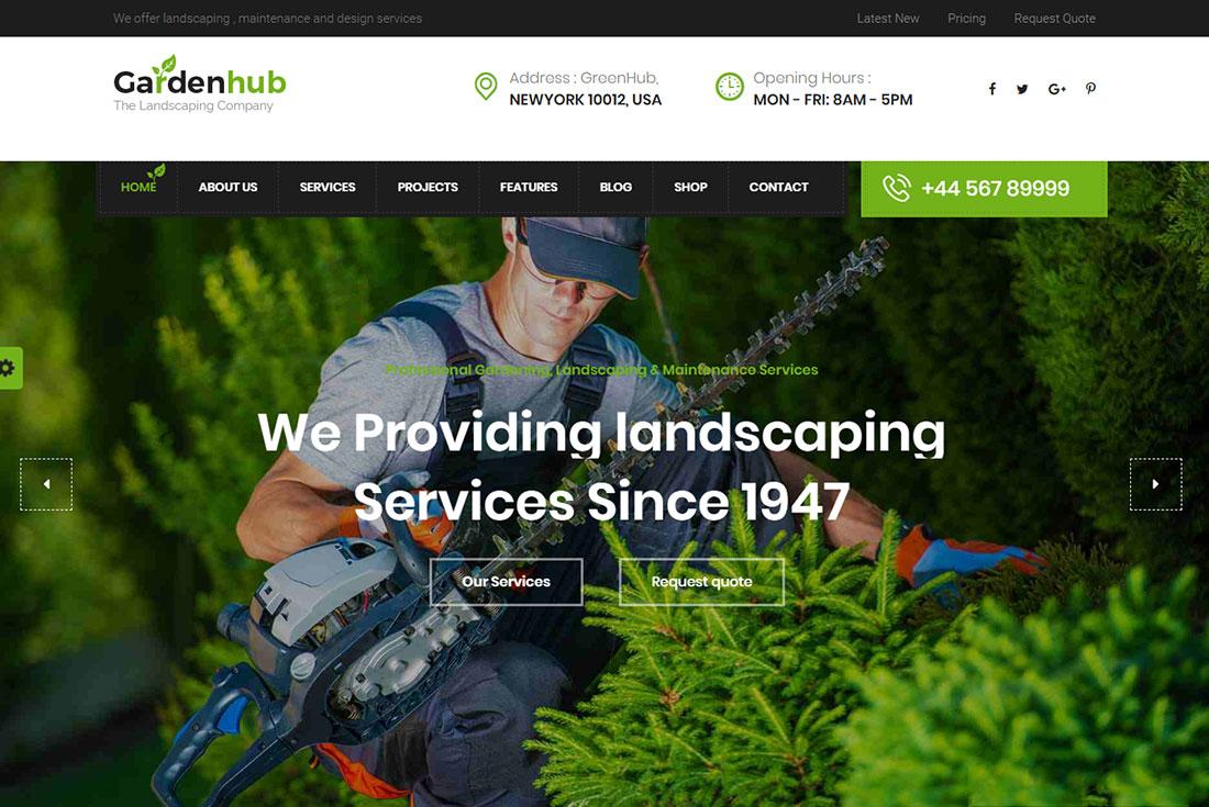 Garden Hub Pest Control WordPress Theme
