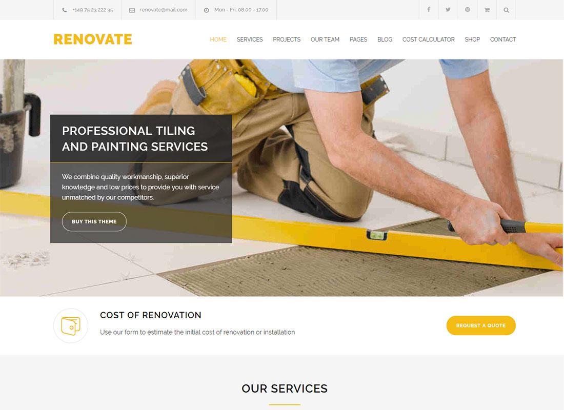 Renovate Plumber WordPress Theme