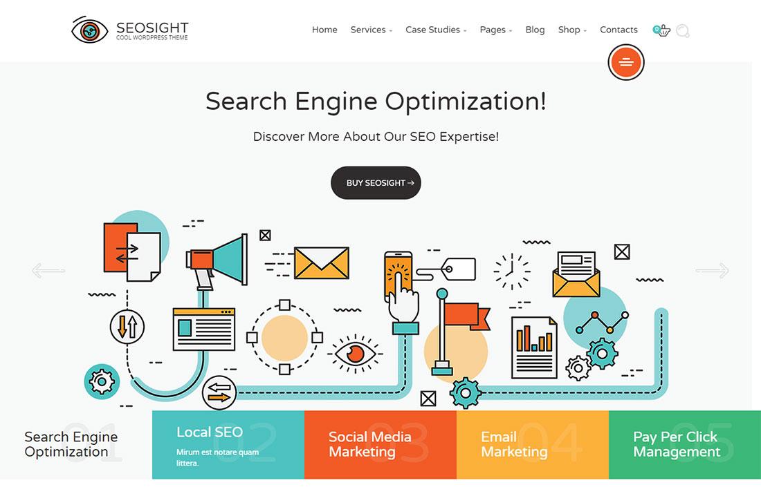 Seosight seo agency WordPress theme
