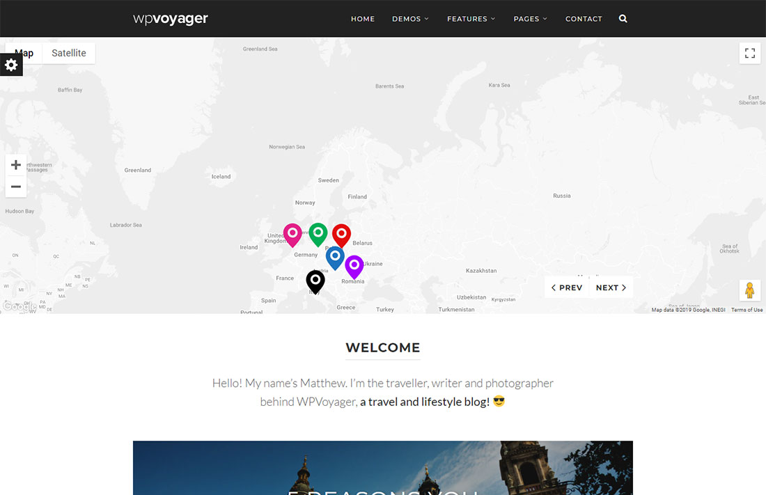 wpvoyager travel magazine theme