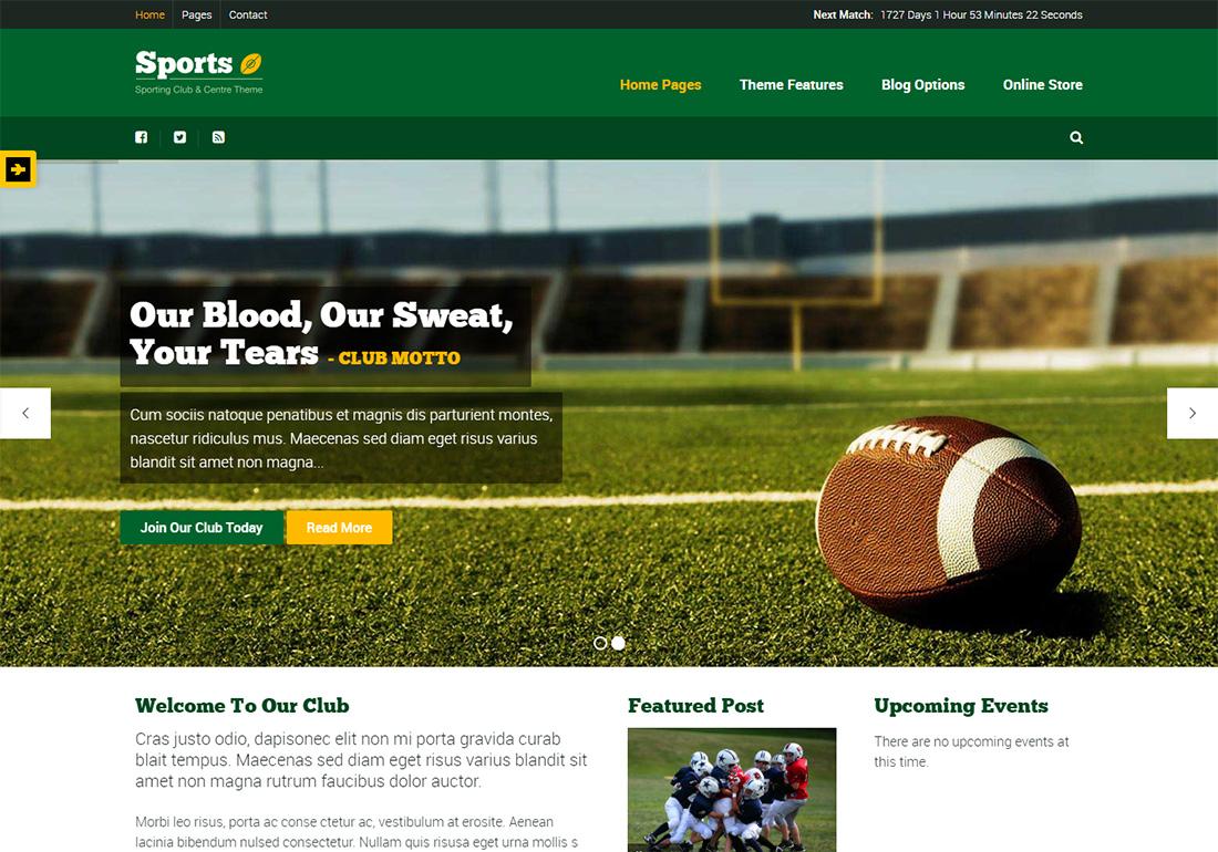 Sport WordPress Golf Theme