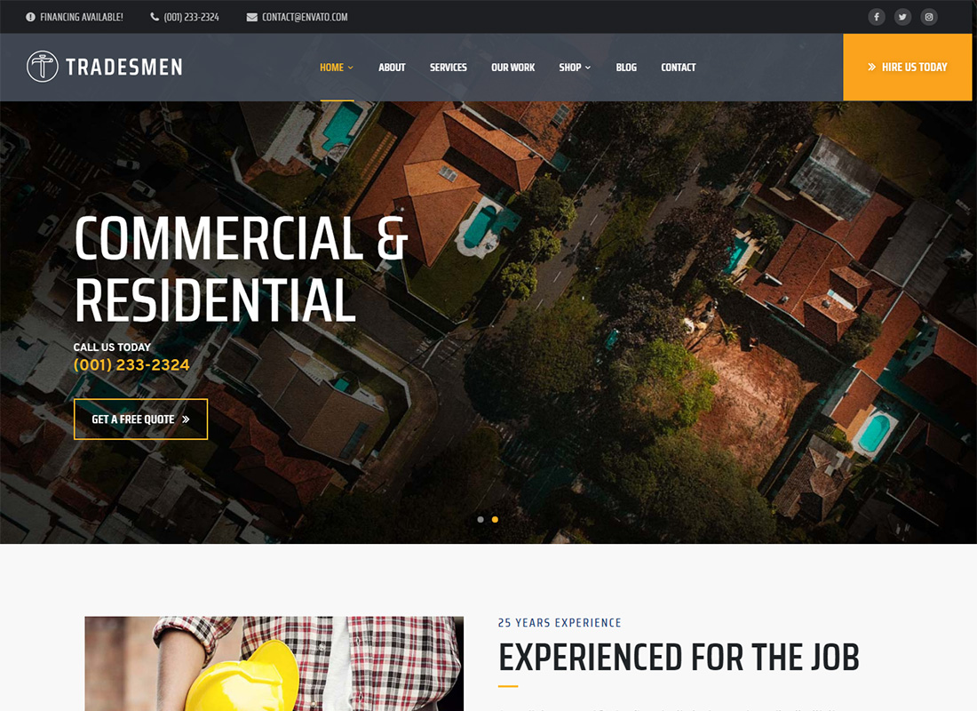 Tradesmen WordPress Themes for Painters
