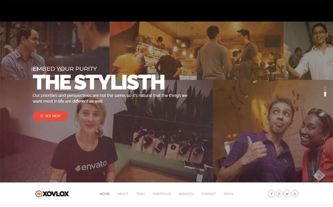 Xovlox WordPress themes video background