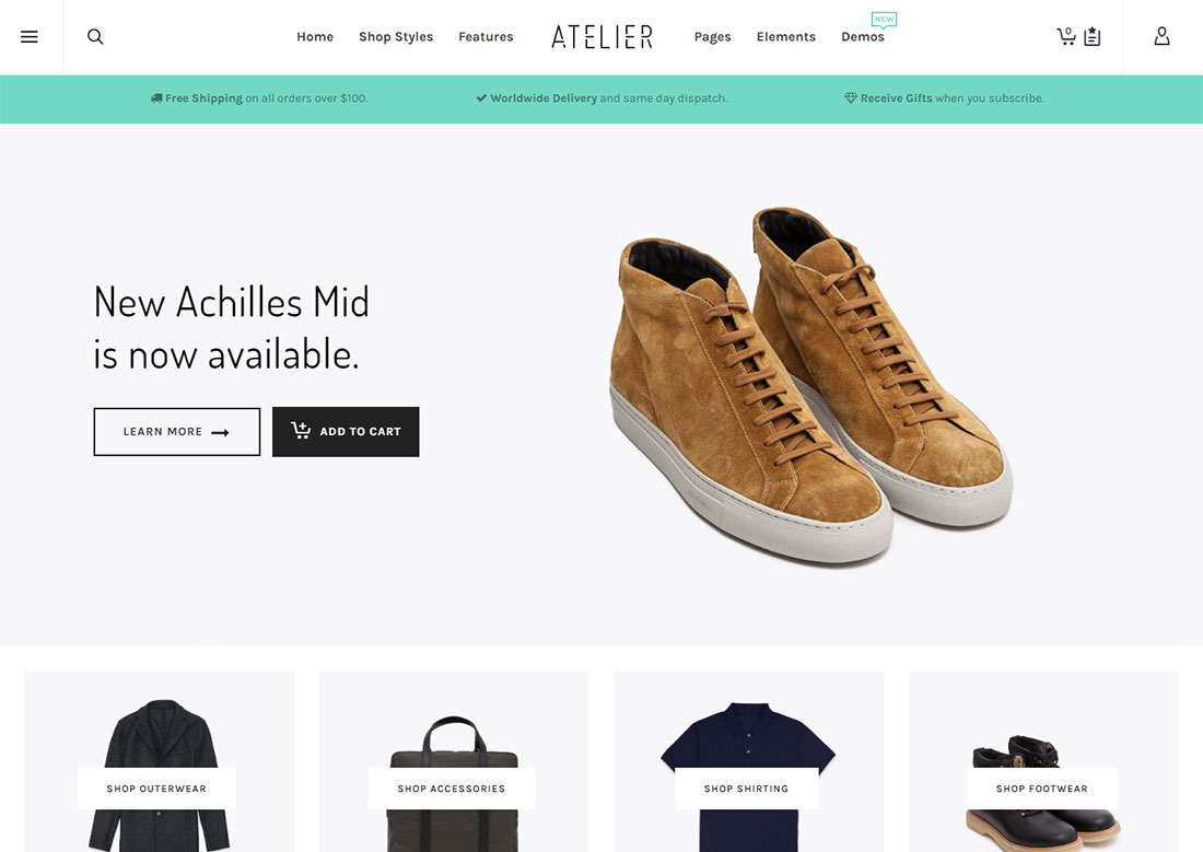 atelier mobile friendly ecommerce theme