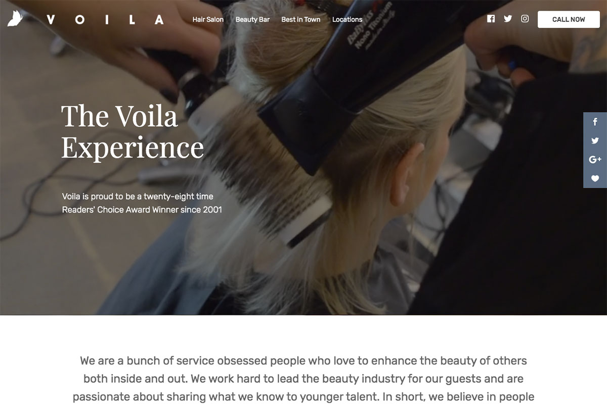 20 Best Beauty Salon Websites for Design Inspiration 20 - Colorlib