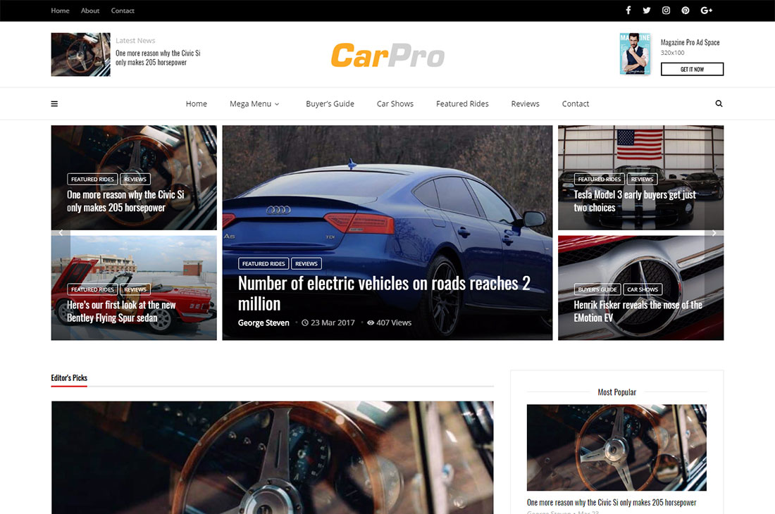 magplus cars magazine wordpress themes