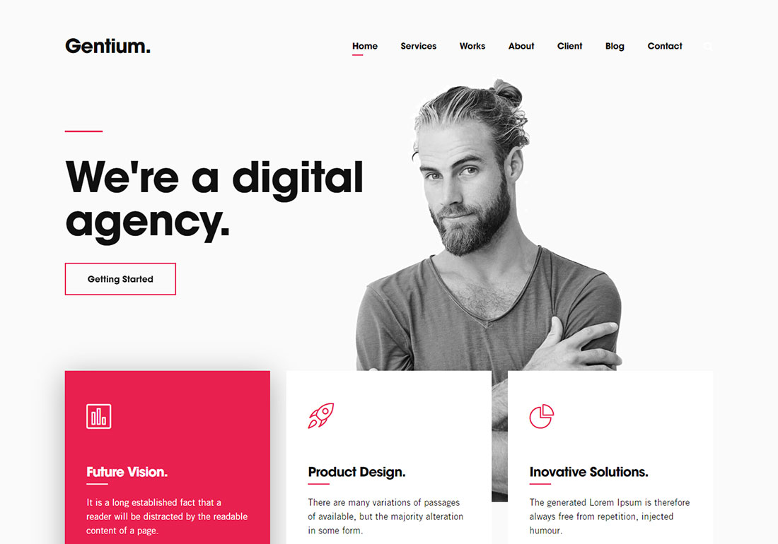 Gentium digital agency WordPress theme