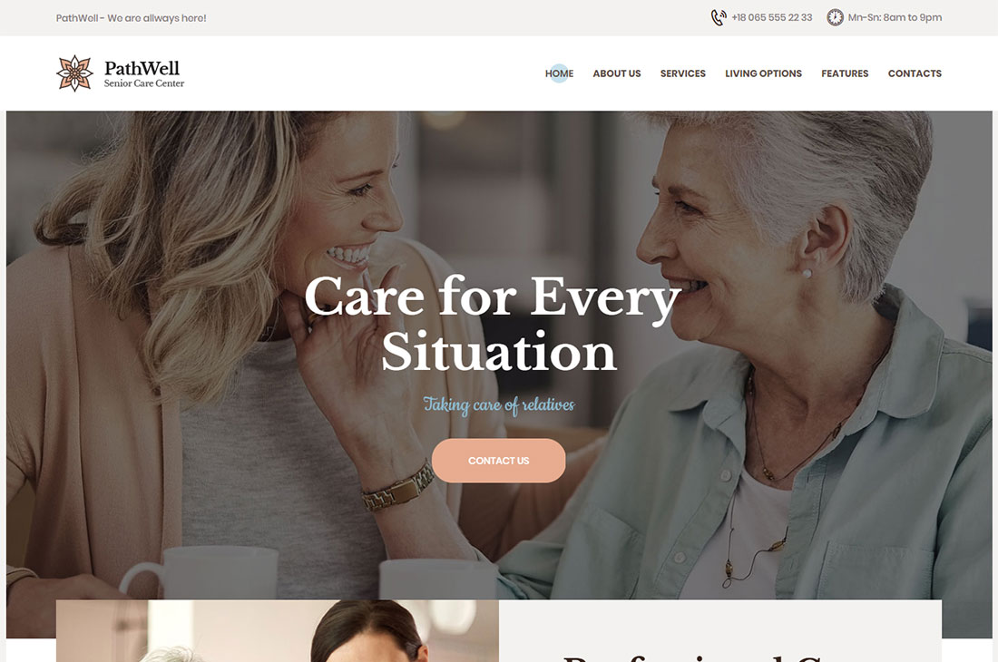 pathwell elderly care wordpress themes
