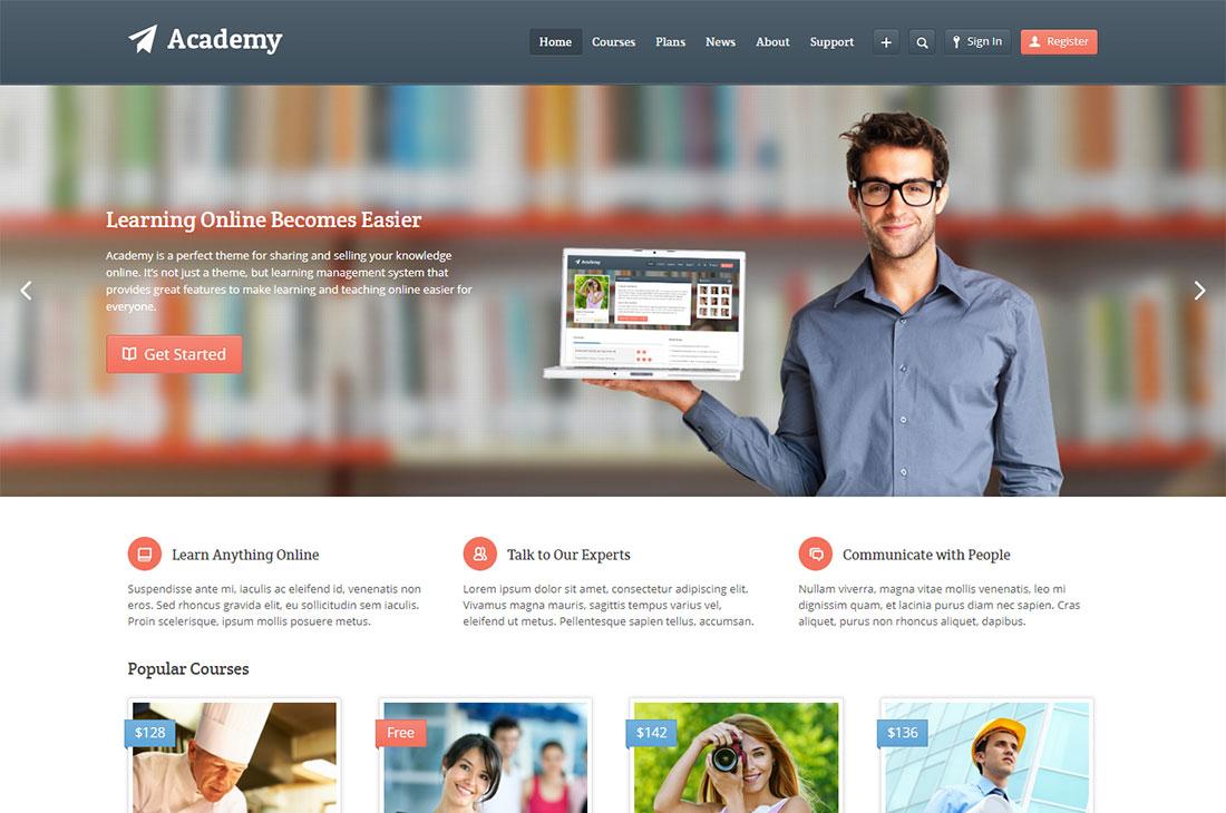 academy elementary school WordPress theme