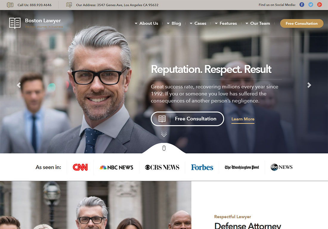 lawyer government WordPress theme