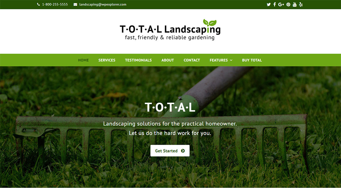 Total Landscaping Website Template