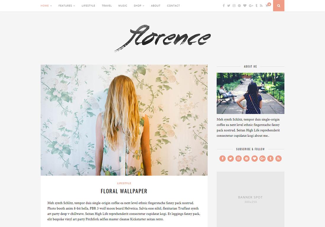 Flornce Personal Branding WordPress Theme