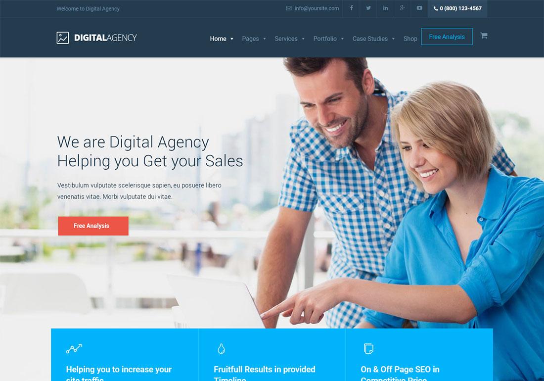 Digital Agency seo agency WordPress theme