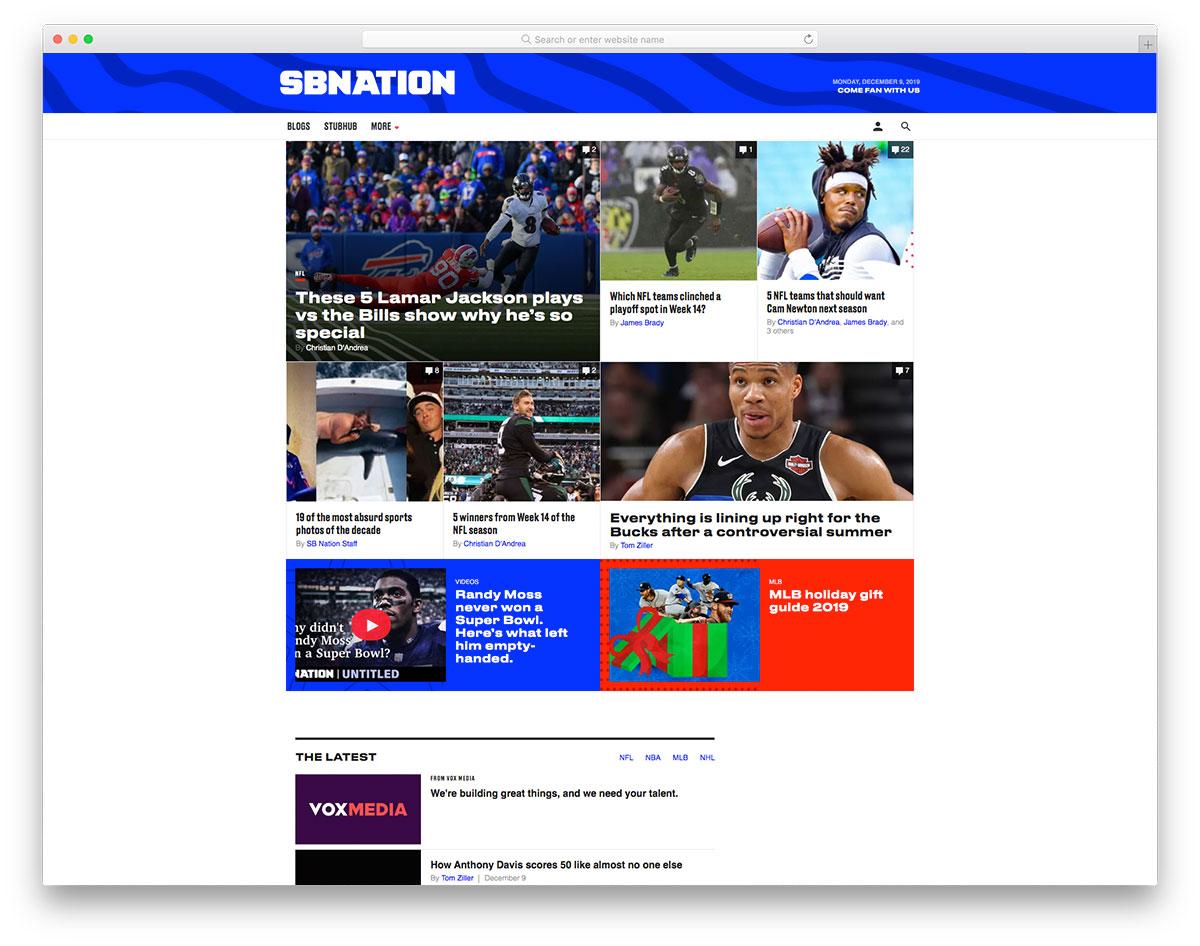 SBNation sports blog