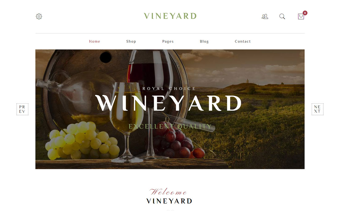 vineyard shop WordPress theme