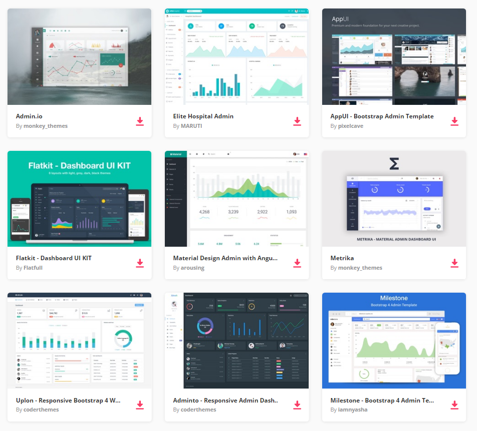 Top 22 free responsive html5 admin dashboard templates 2018 all the admin templates you need and many other design elements are available for a single monthly subscription by signing up to envato elements pronofoot35fo Images