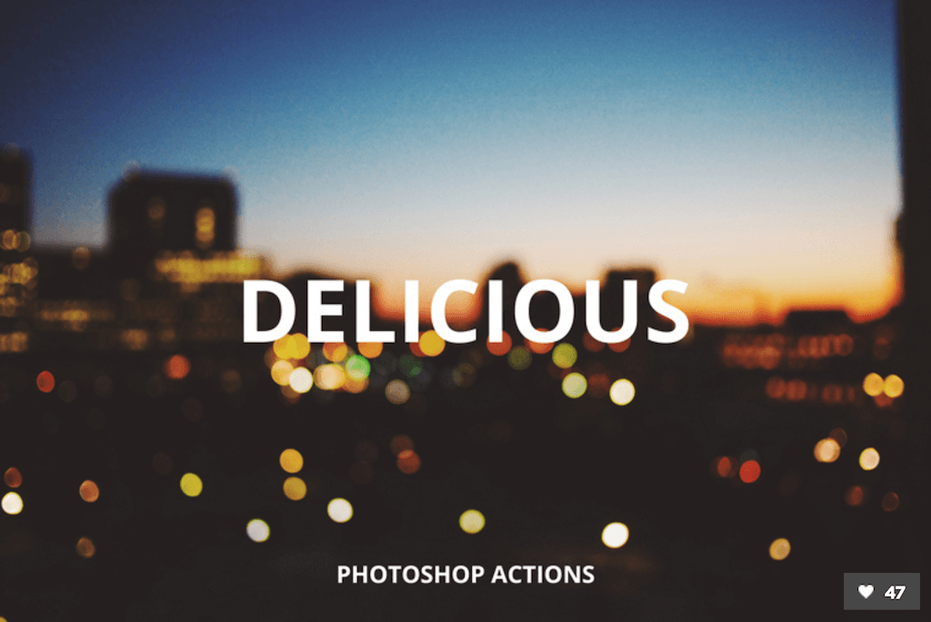 Delicious Photoshop Filters