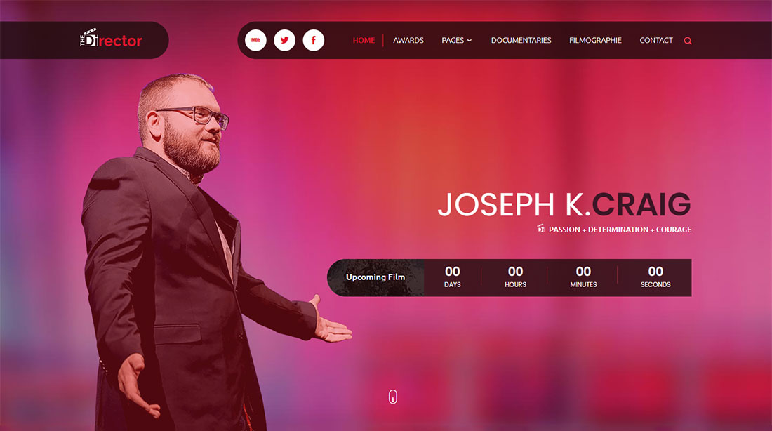 The Director Actor Website Template