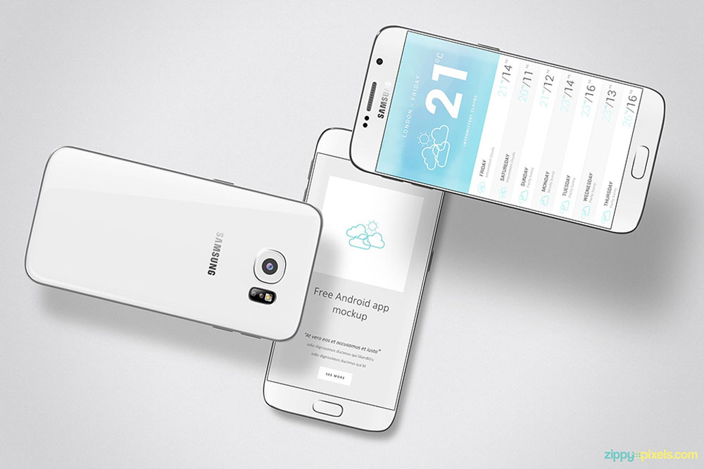 28 Excellent Android Phone Mockups For Graphic Design - Colorlib