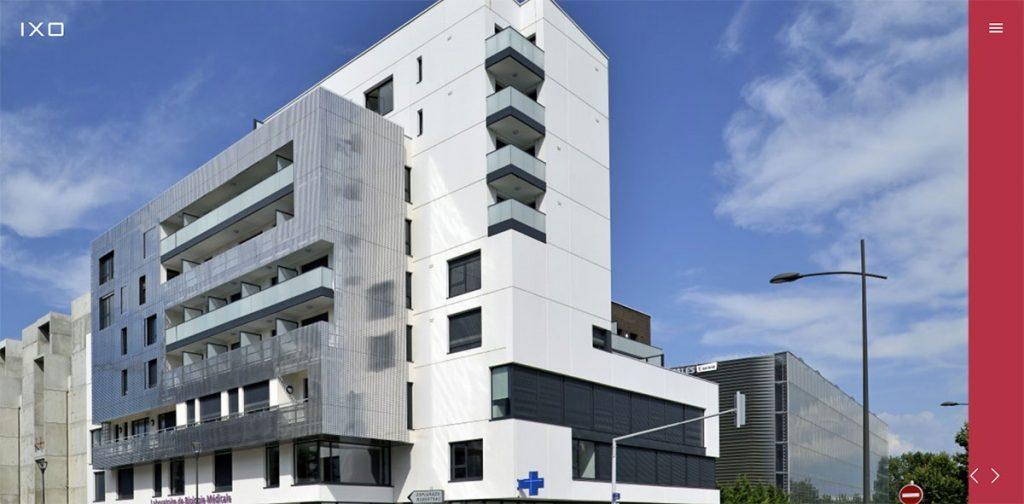 IXO Architecture website design