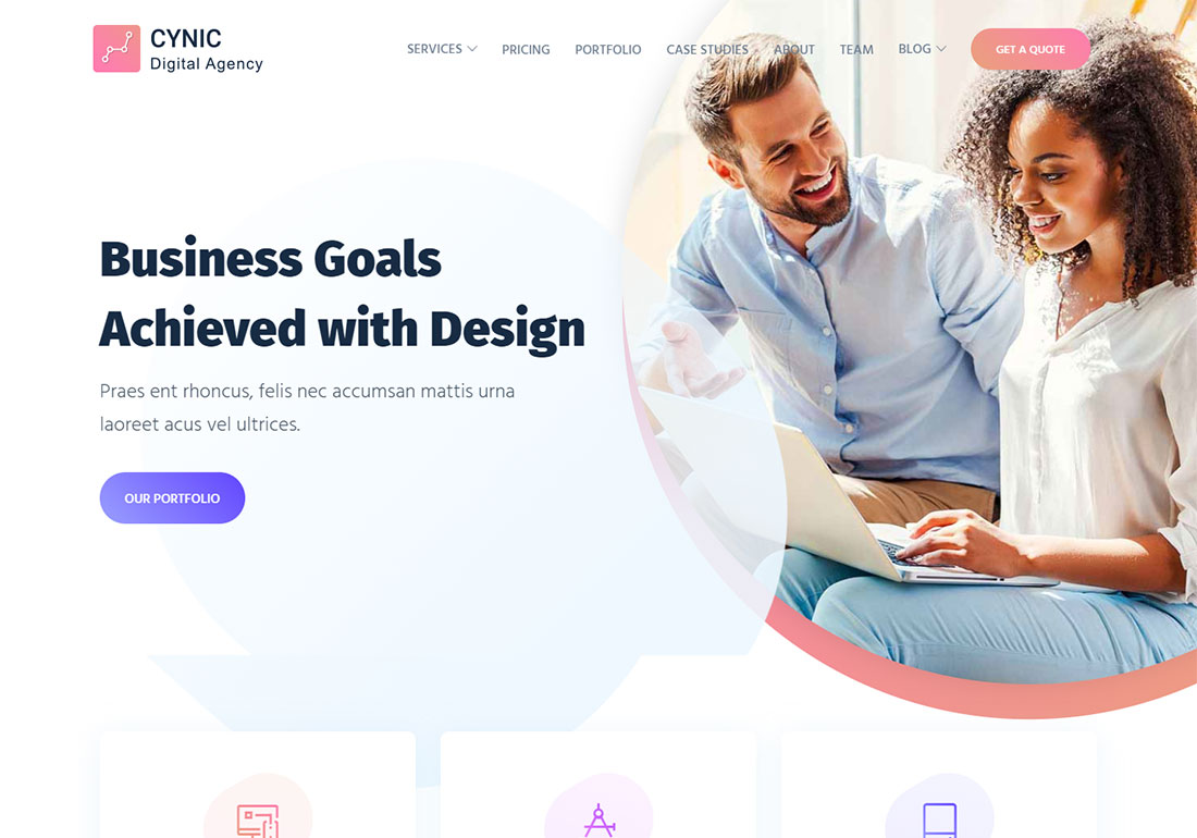 Cynic digital agency WordPress theme