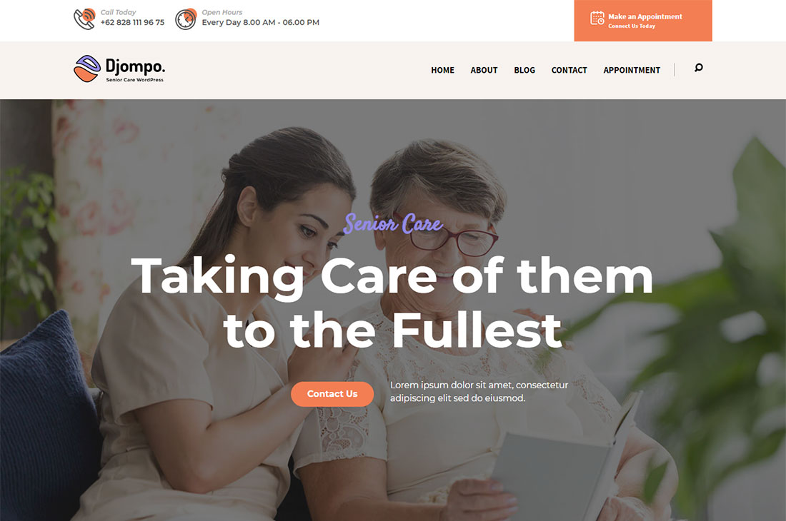 djompo elderly care wordpress themes