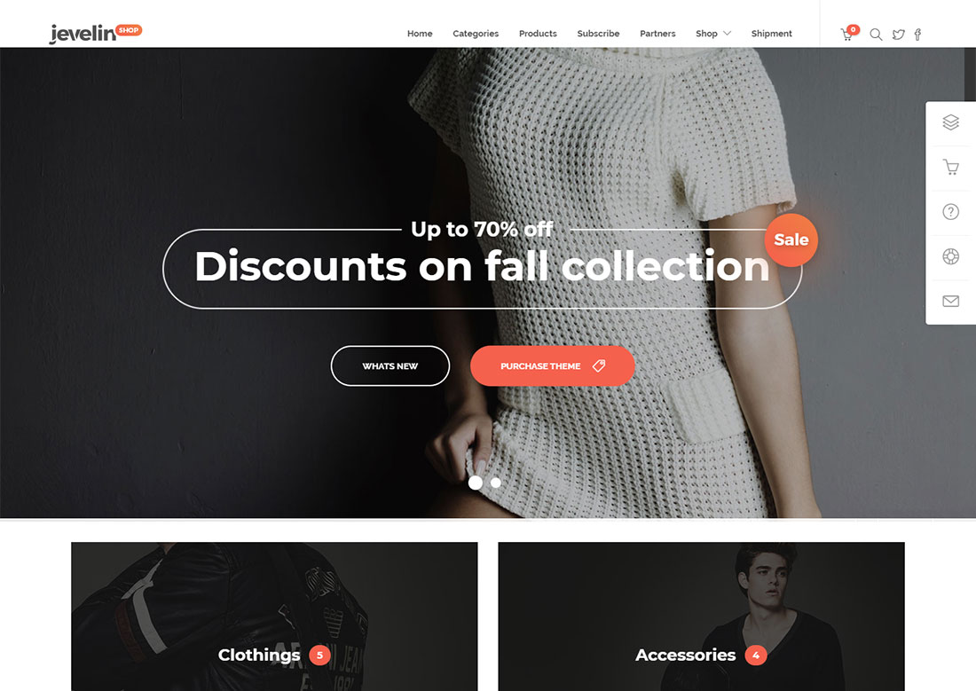 jevelin mobile friendly ecommerce theme