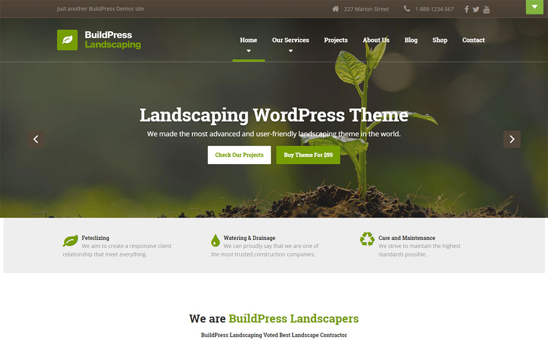 BuildPress Landscaping Website Template