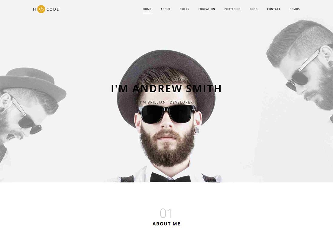 H-Code Personal Branding WordPress Theme