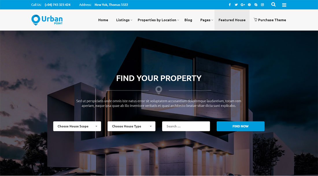 UrbanPoint - Property rental WordPress theme