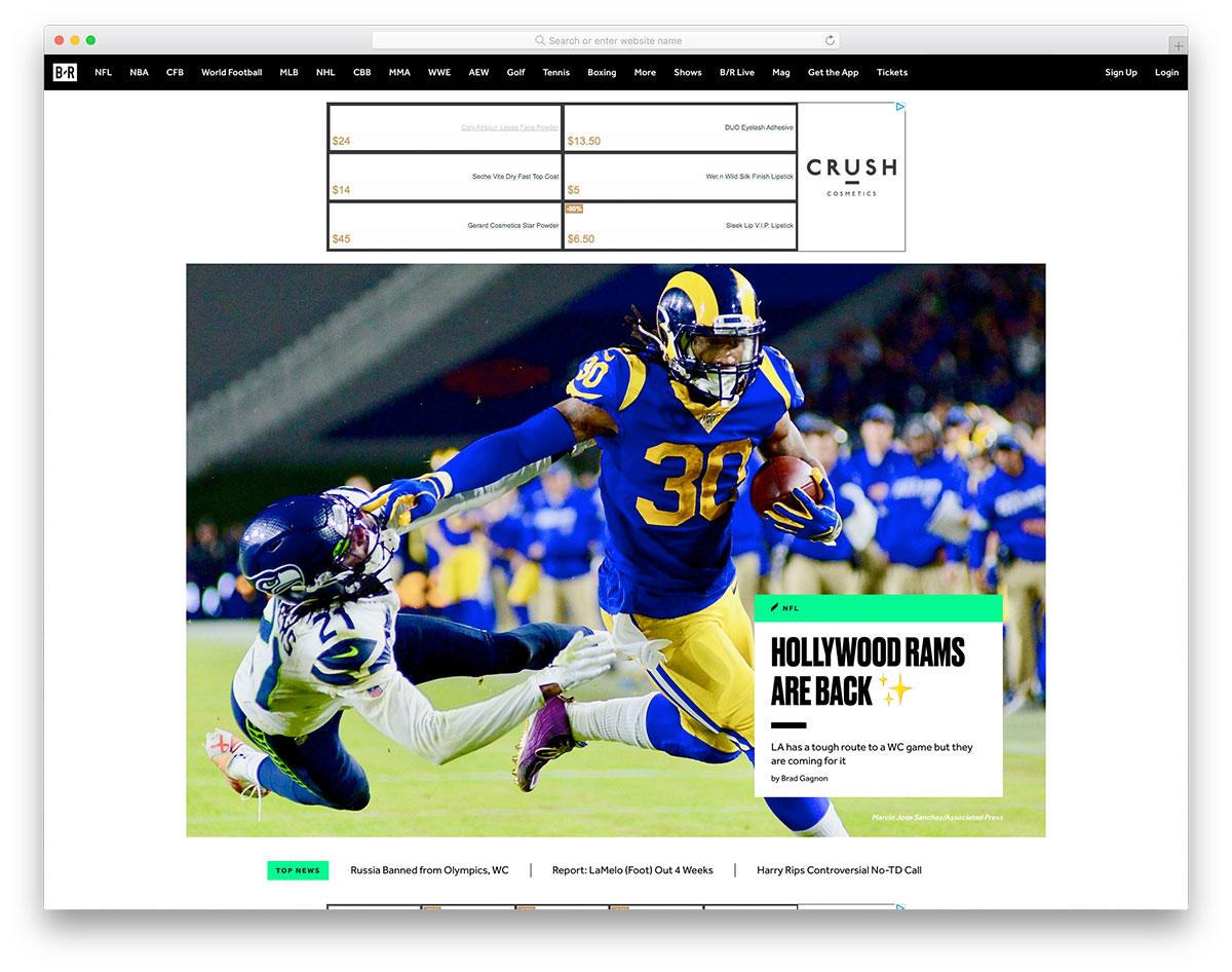 Bleach Report sports blog
