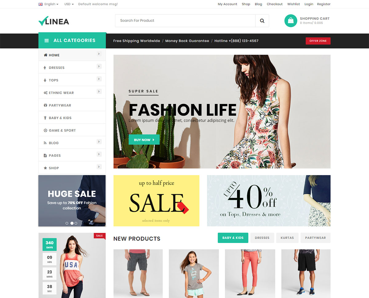 T-shirt Store Wordpress Theme