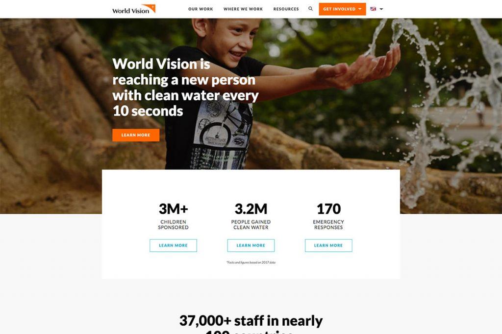 NRDC charity website design