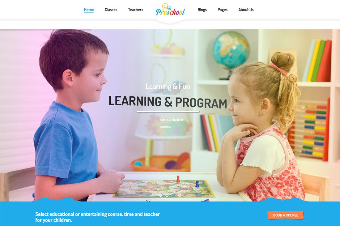 elementary school WordPress theme