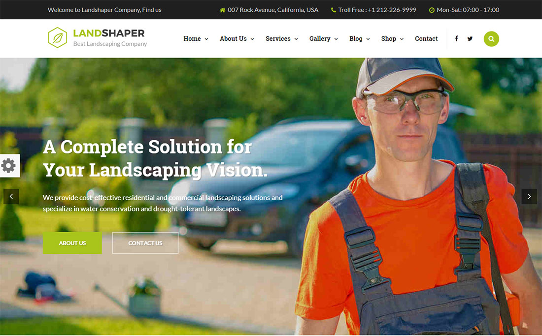 The Landshaper Landscaping Website Template