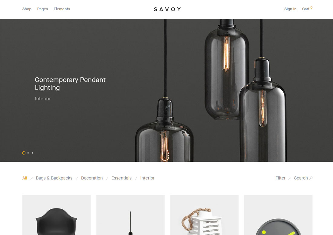 savoy mobile friendly ecommerce theme