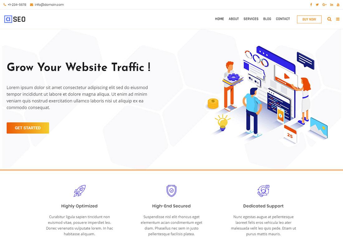 Avas seo agency WordPress theme