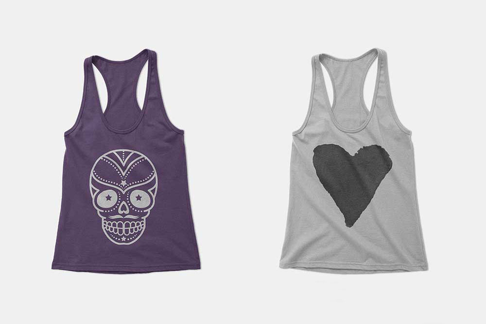 a1db9309b6e9ca Here s a Women s Racerback Tank Top Mockups that are made of  high-resolution graphics. If you re a designer working with racerback tank  tops ...